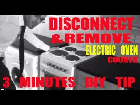 DIY TIPS HOW TO REMOVE & DISCONNECT an Electric oven / cooker COWBOYDIY COM