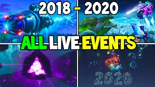 ALL Fortnite LIVE EVENTS from 2018 to 2020! (Chapter 1 Season 3 - Chapter 2) - Storyline Events