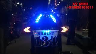 PULSAR 135 LS PROJECTOR HEADLIGHT & LED TAILLIGHT BY VISHAL