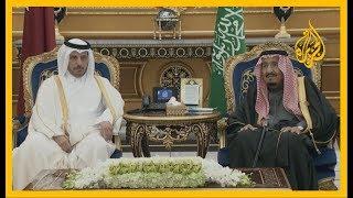 🇶🇦 🇸🇦 العاهل السعودي يستقبل رئيس مجلس الوزراء القطري المشارك في القمة الخليجية