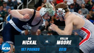 Bo Nickal vs. Kollin Moore: FULL 2019 NCAA championship match at 197 pounds