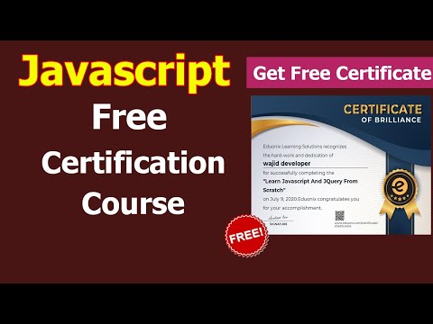 Javascript Free Course With Certificate | Javascript | Free Certification Course For Beginners