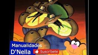 "Manualidades:Cuadro Precolombino 02 -By ""Taller Dnella""2014"