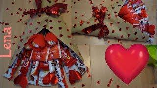 Geburtstag Geschenk Idee 💝 Birthday Gift Idea 💝 Candy Bouquet DIY - Букет из конфет