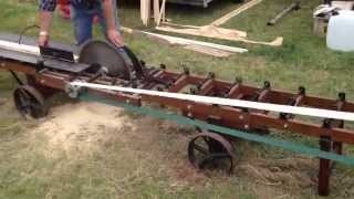 preview picture of video '4 Burrell traction engine with mini rack saw bench powder-ham castle 2014'