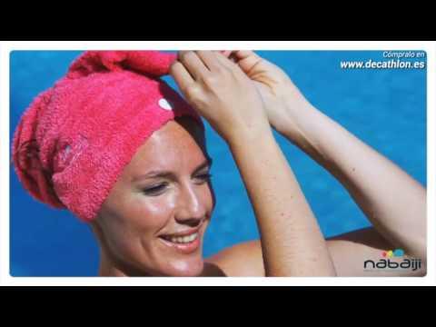 Colocación de la toalla de microfibra suave para el pelo NABAIJI