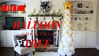 BEST Christmas Party Decor EVERrrrr! | DIY Balloon Christmas Tree