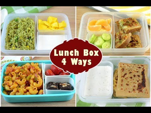 Video Indian Lunch Box Ideas | Kids Lunch Box Recipes | Quick Lunch Box