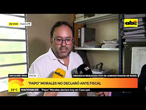 """Papo"" Morales no declaró ante fiscal"