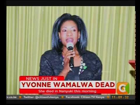 Yvonne Wamalwa, widow of former Vice President Michael Wamalwa Kijana dies in Nanyuki.