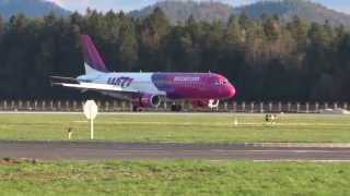 preview picture of video 'WizzAir Airbus A320  landing at Brnik Airport'