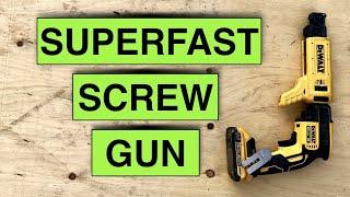 Dewalt Drywall Screw Gun DCF620B and Adapter DCF6201 review