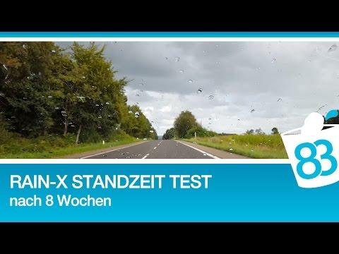Rain-X Regenabweiser Testbericht und Erfahrungen - Standzeit und Probefahrt nach 8 Wochen - 83metoo