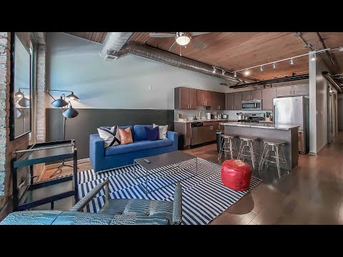 A furnished Streeterville 2-bedroom, 2-bath #2603 at The Lofts at River East