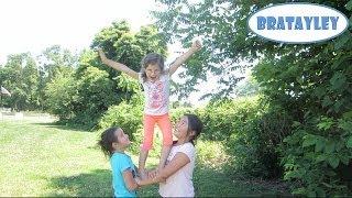 Cute Cheerleading Stunts! (WK 183.4) | Bratayley