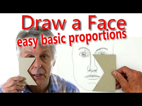 How to Draw a Face: PART 2 Basic Proportions