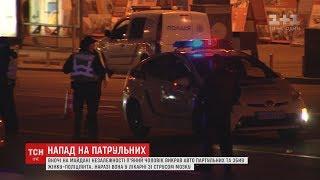 На Майдані Незалежності злочинець викрав патрульне авто та поранив поліцейську