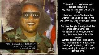Ab-Soul - Christopher DRONEr (LYRICS ON SCREEN)