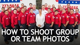 How To Shoot Group Or Team Photos