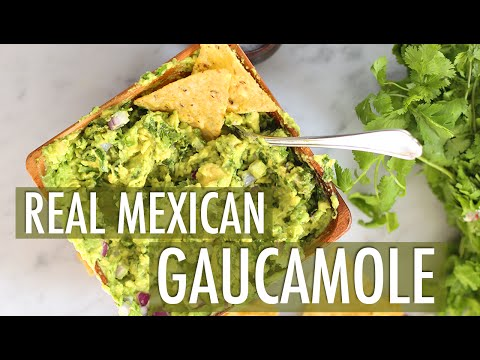 Traditional Easy Guacamole Recipe | Avocado Week