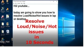 how to fix laptop Heat/Loud/Noisy issues in 10 seconds