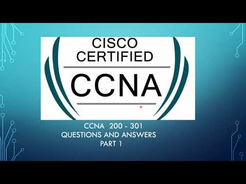 CCNA 200-301 - Exam Questions & Answers - Part 1 - YouTube