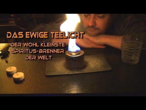 Das ewige Teelicht - Der wohl kleinste Spiritus-Brenner der Welt [DIY] [MYOG]