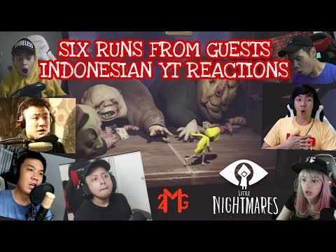 Little Nightmares Six runs from Guests Reactions: Pokopow, MiawAug, Audrey FF, Reza Arap, etc