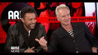 Sting and Shaggy stop by to talk about their new album!!