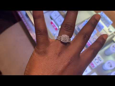 Engagement Ring and Wedding Band sautered together!