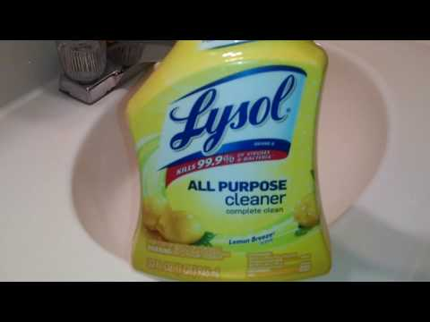 Lysol 'Lemon Breeze' All Purpose Spray Cleaner – Review & Demo | Crazy Cleaner