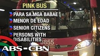 The pink bus is only for women, elderly, kids