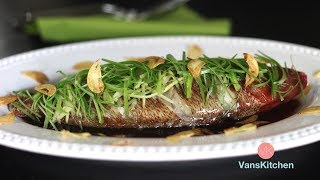 Steamed Fish With Ginger And Green Onion - Instant Pot Recipe (Cá Hấp Hành Gừng)