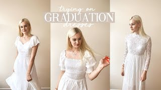 CHOOSING MY GRADUATION DRESS | TRYING ON DRESSES FROM SHEIN | Caitlin Rose
