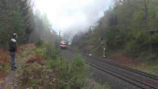 preview picture of video '13.04.2014 Sonderzug der UEF auf der Tharandter Rampe'