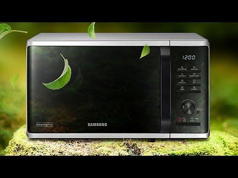 Микроволновка Samsung MG23K3515AS Обзор - Тест с Грилем 🍕🍗🍔