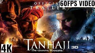 Tanaji Trailer | Tanaji The Unsung Warrior Official Trailer | 4k video | Ajay D Saif Ali K Kajol