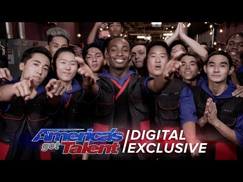 Elimination Interview: Brobots and Mandroidz Send Love To Their Fans - America's Got Talent 2017 (видео)