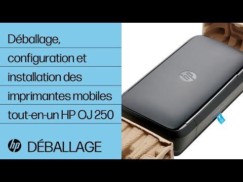 Déballage, configuration et installation des imprimantes mobiles tout-en-un HP OfficeJet 250