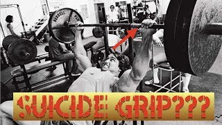 Why do pro bodybuilders use the thumbless grip?