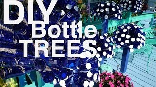 DIY: Make A Dr. Seuss-looking Bottle Tree With Beer, Wine, And Water Bottles