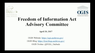 FOIA Advisory Committee Annual Open Meeting