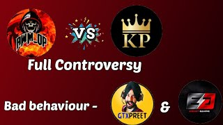 AWM OP VS KILLER PRINCE CONTROVERSY| GTX PREET AND ENERGY  MISBEHAVING