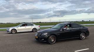 BMW E60 M5 VS MERCEDES-BENZ C63 AMG!!!