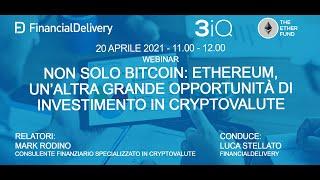 Non solo Bitcoin: Ethereum, un'altra grande opportunità di investimento nelle cryptovalute