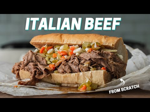 CHICAGO STYLE ITALIAN BEEF SANDWICH (Made By Man From Chicago)