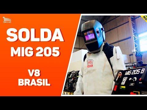 Máquina de Solda Mig 205A  Mono com Tocha - Video