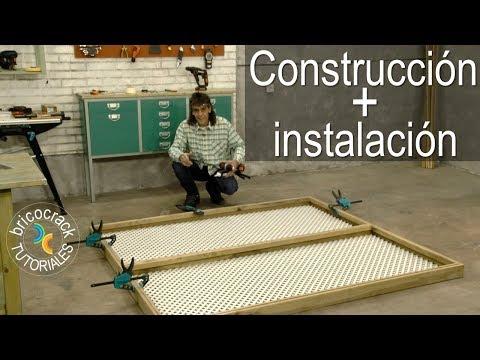 Instalar celosía con bastidor de madera (Bricocrack)