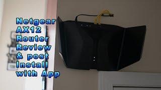 Netgear NightHawk Ax12 High speed Wifi router review