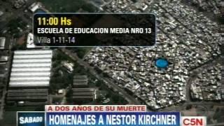 C5N  HOMENAJES A DOS AÑOS DE LA MUERTE DE NÉSTOR KIRCHNER